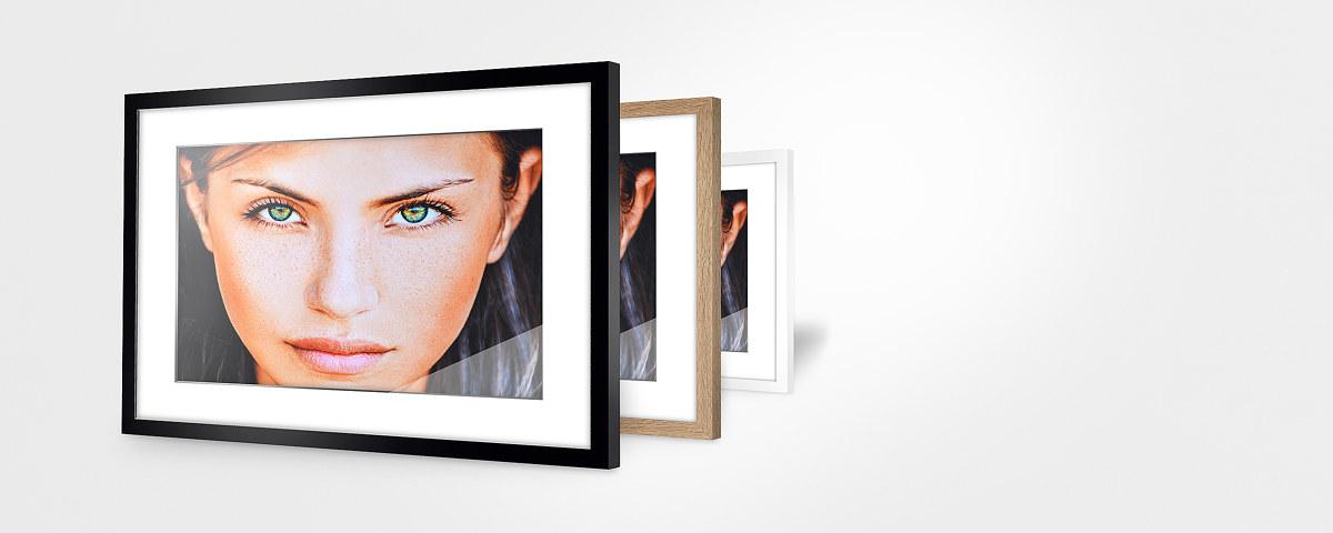 Ihr Foto auf Hahnemühle-Papier im passenden Rahmen