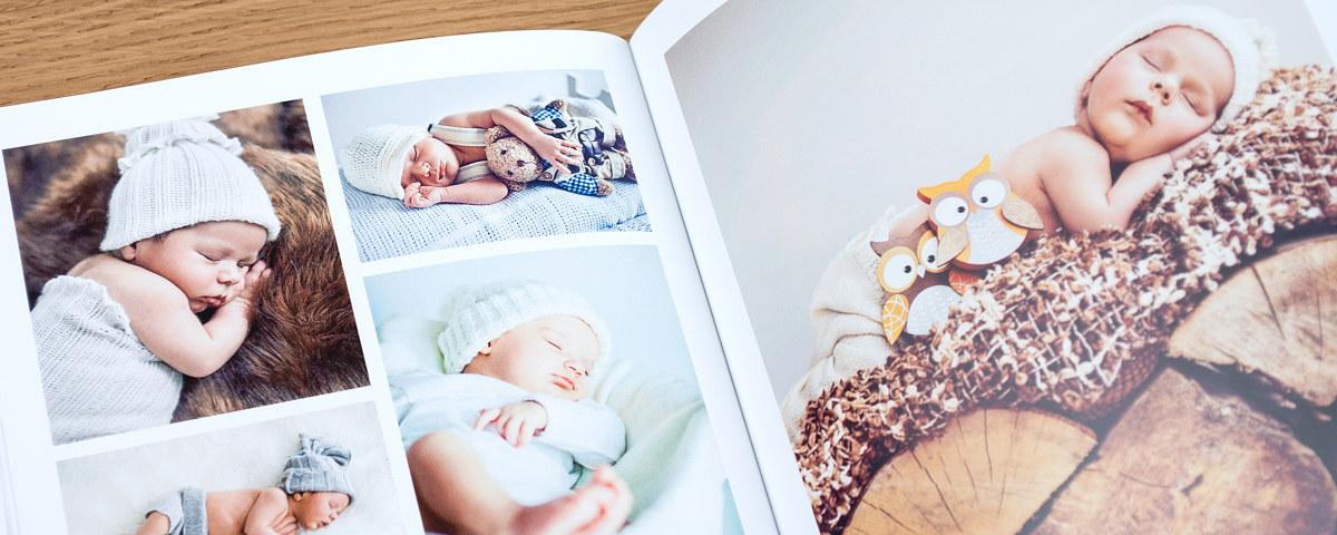 individuelles baby fotobuch selbst erstellen gestalten myposter. Black Bedroom Furniture Sets. Home Design Ideas