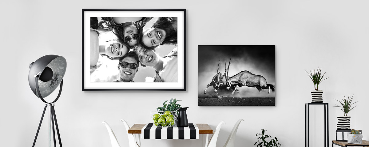 Schwarz-weiß Bilder gestalten - eigene Fotos oder myposter Motive!