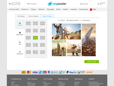 myposter Collage Maker: Kostenlose Collagen online erstellen!