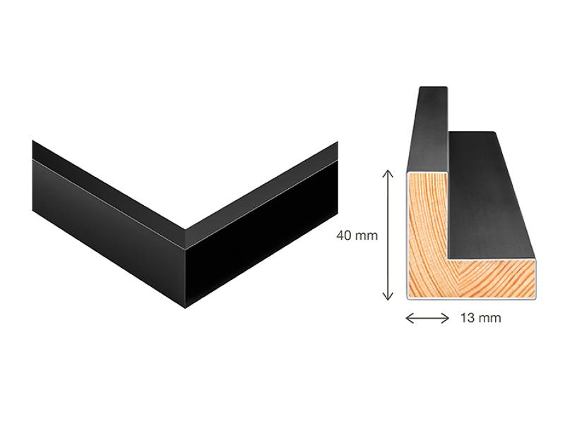 2 SCHATTENFUGEN LEISTEN Holz Bilderrahmen für Leinwände /& Keilrahmen 40 x 50 cm
