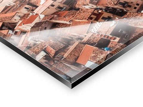 Wandbild aus Plexiglas® Druck auf Acryl 120x60 Kunst Café
