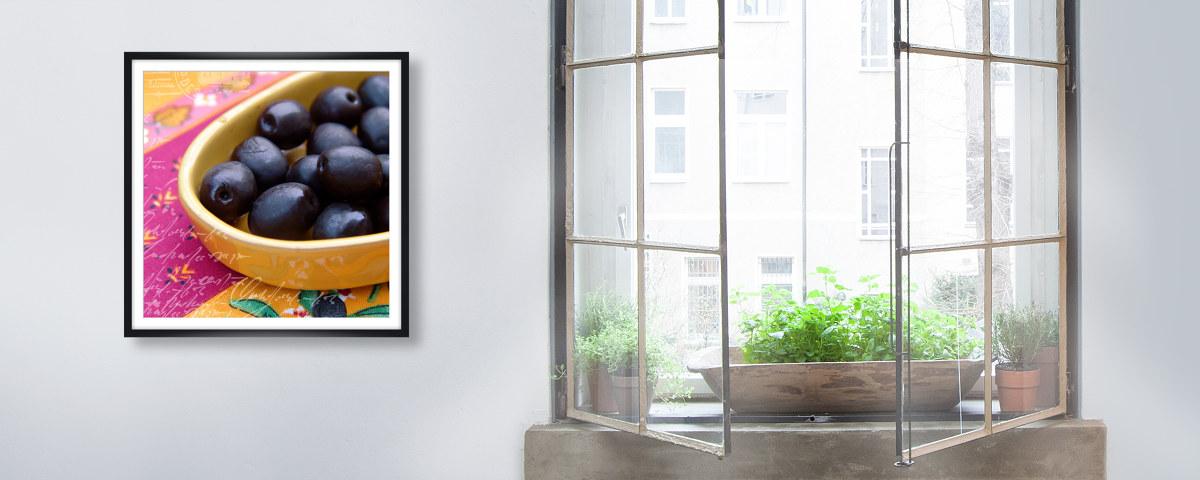 frische oliven bild mit mediterranem feeling. Black Bedroom Furniture Sets. Home Design Ideas