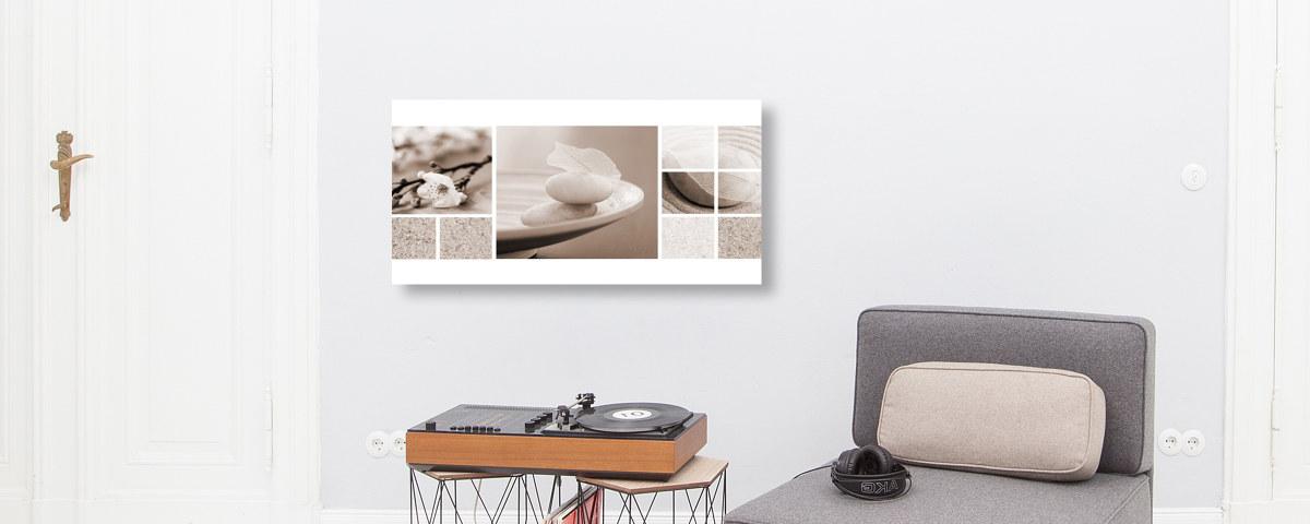 Stilvolle stein bilder in eindrucksvoller konstellation - Steinbilder auf leinwand ...