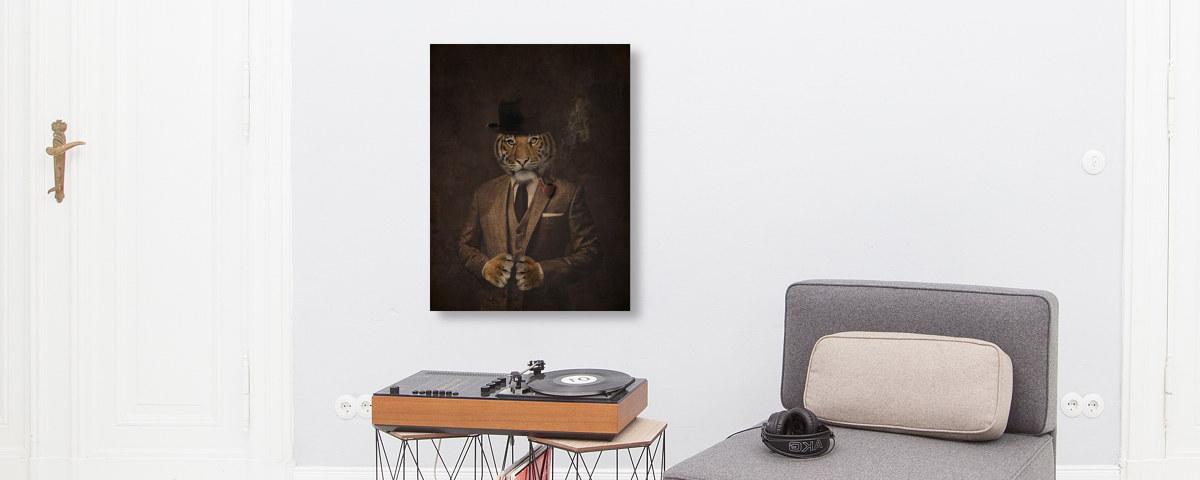 stylisches tiger bild bei myposter drucken lassen. Black Bedroom Furniture Sets. Home Design Ideas