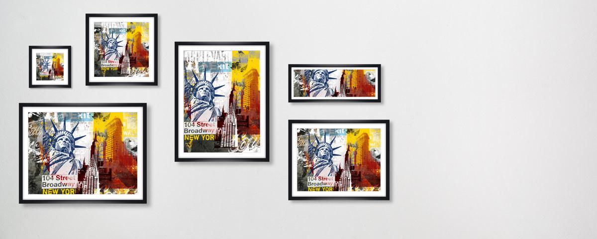 Bild New York Modern ist eine Collage von Highlights