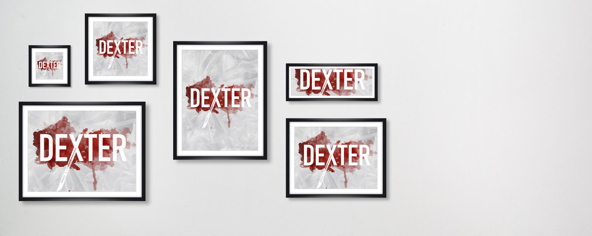 dexter bild als poster f r fans der us kultserie myposter. Black Bedroom Furniture Sets. Home Design Ideas