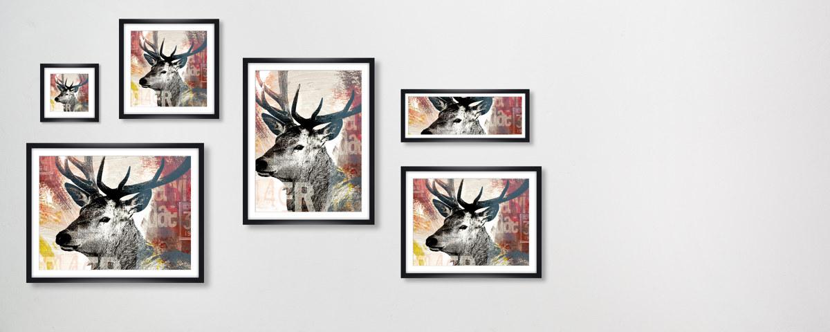 poster pop d 39 un cerf pour une impression r ussie. Black Bedroom Furniture Sets. Home Design Ideas