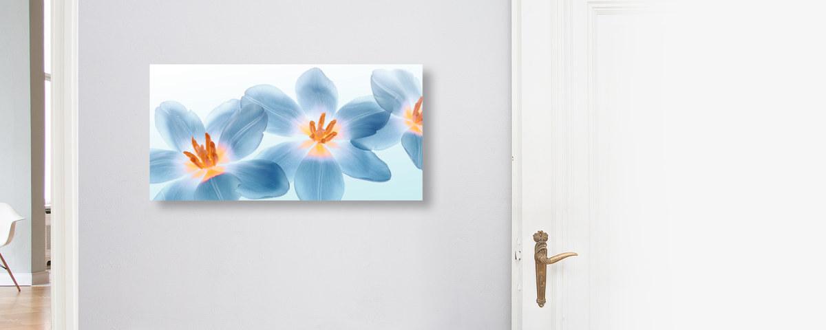 Stilvolles Gemälde mit Tulpen im Dreierpack