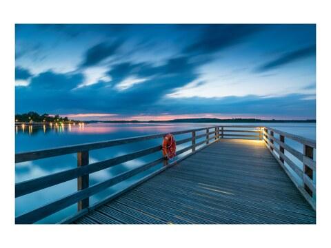 Blauer Abend am See