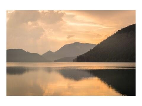 Gewitterlicht am Walchensee