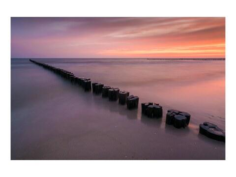 Pastellmorgen am Meer