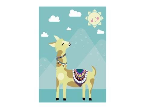 Sonnenanbeter Alpaka