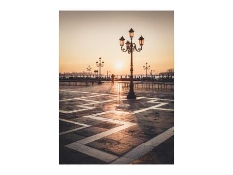 Sonnenaufgang am Piazza San Marco Venedig