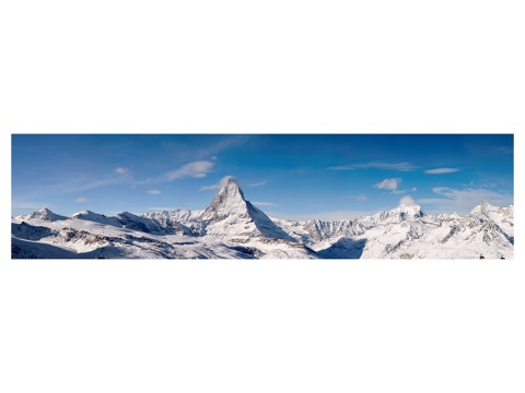 eindrucksvolles alpen panorama mit matterhorn bei myposter. Black Bedroom Furniture Sets. Home Design Ideas