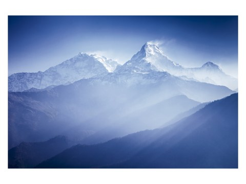 Panorama de la montagne d'Annapurna