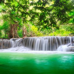 Wasserfall Motiv Tropisch
