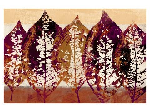 Blätter gemalt