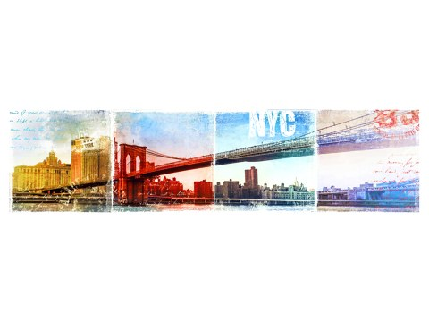 Panorama de Brooklyn Bridge
