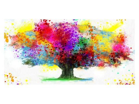 Wasserfarben Baum Bild