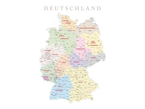 stilvolle deutschlandkarte f r ihr arbeitszimmer myposter. Black Bedroom Furniture Sets. Home Design Ideas