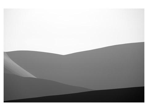 Düne Schwarz weiß