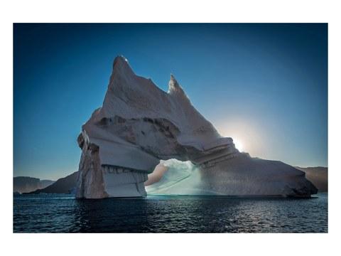 Photo de blocs de glace