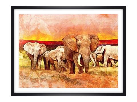 stolze sch nheit f r ihre wandgestaltung mit ihrem elefanten gem lde. Black Bedroom Furniture Sets. Home Design Ideas