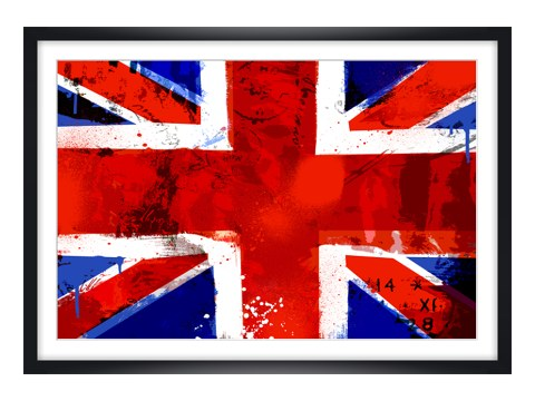 england flagge bild im used look bei myposter bestellen. Black Bedroom Furniture Sets. Home Design Ideas