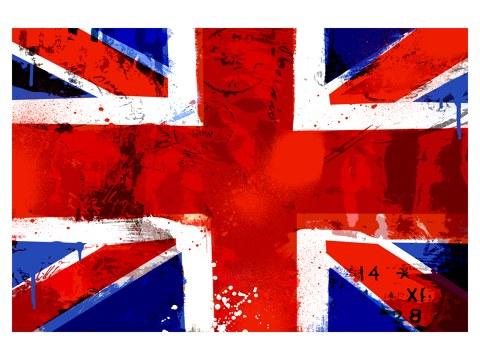 England Flagge Bild Im Used Look Bei Myposter Bestellen