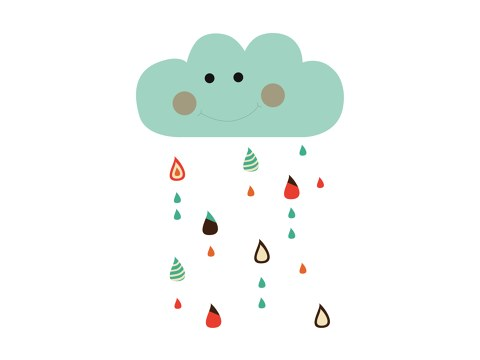 funny rain cloud