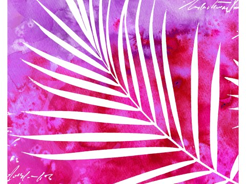 Gemälde Blätter