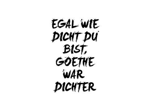 goethe sprüche Witziger Goethe Spruch als stylisches Wandmotiv goethe sprüche