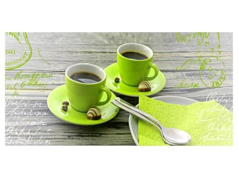 Motif café vert