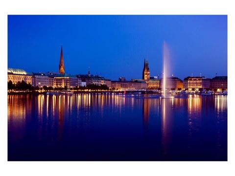 Hamburg Nacht Bild
