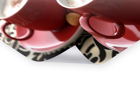 Bilder für Küche und Kaffee mit Ornamental Coffee Red