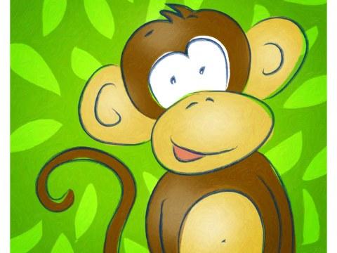 Kinderzimmerbild Affe