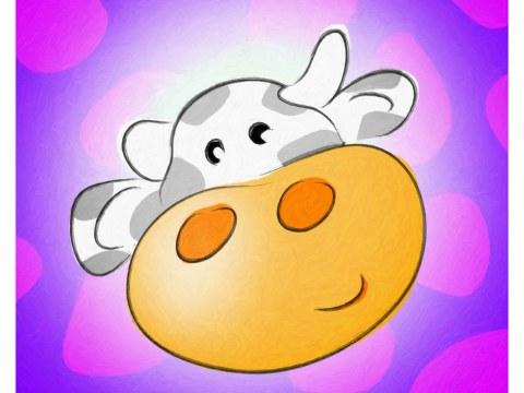 Image chambre d'enfant vache
