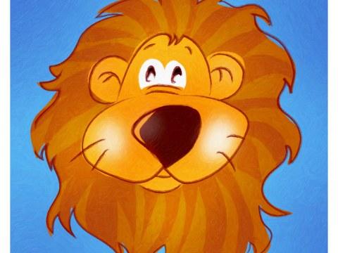 Kinderzimmerbild Löwe