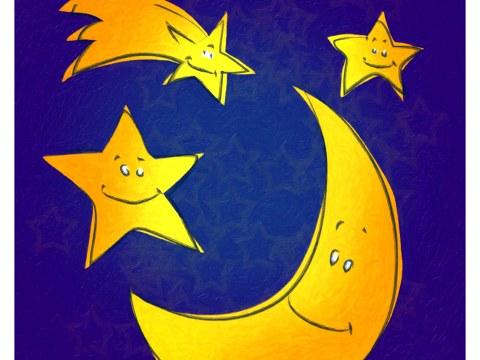 Kinderzimmerbild Mond