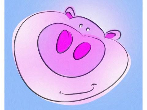 Kinderzimmerbild Schwein