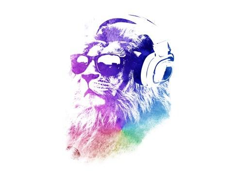 Streetart lion