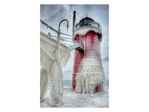 Leuchtturm Eis Fotos