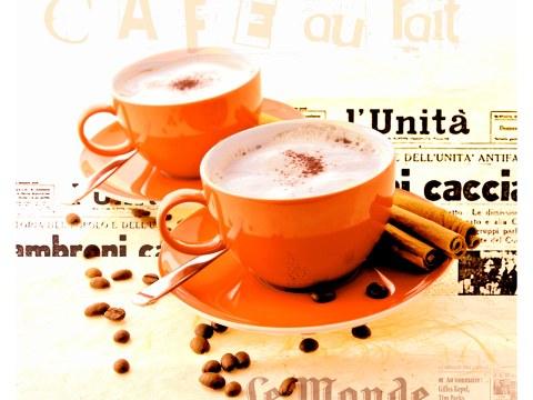 Wandbilder Kaffee rot