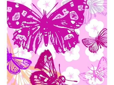 Pop art photo papillon