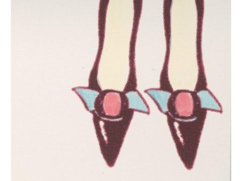 Pop art photo chaussures