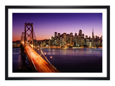 san francisco skyline im sonnenuntergang. Black Bedroom Furniture Sets. Home Design Ideas
