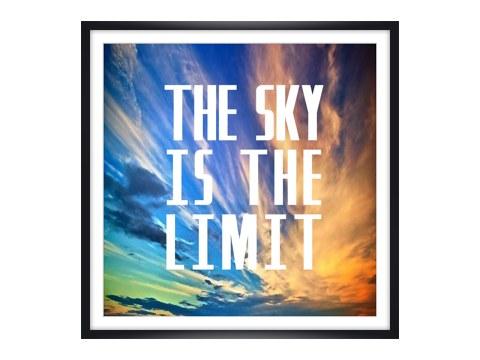 the sky is the limit fliegen sie mit dem motiv davon. Black Bedroom Furniture Sets. Home Design Ideas