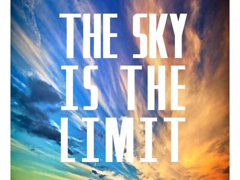 The Sky Is The Limit Fliegen Sie Mit Dem Motiv Davon