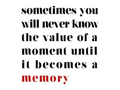 Sometimes You Will Never Know